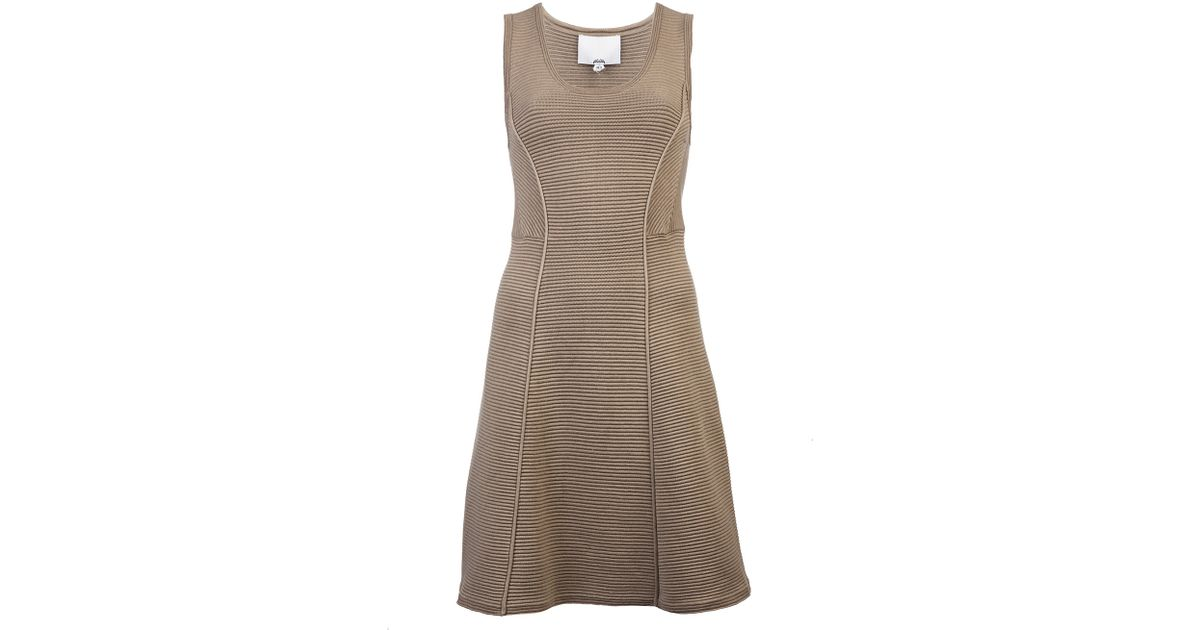 3.1 Phillip Lim Sleeveless Ottoman Dress in Natural - Lyst