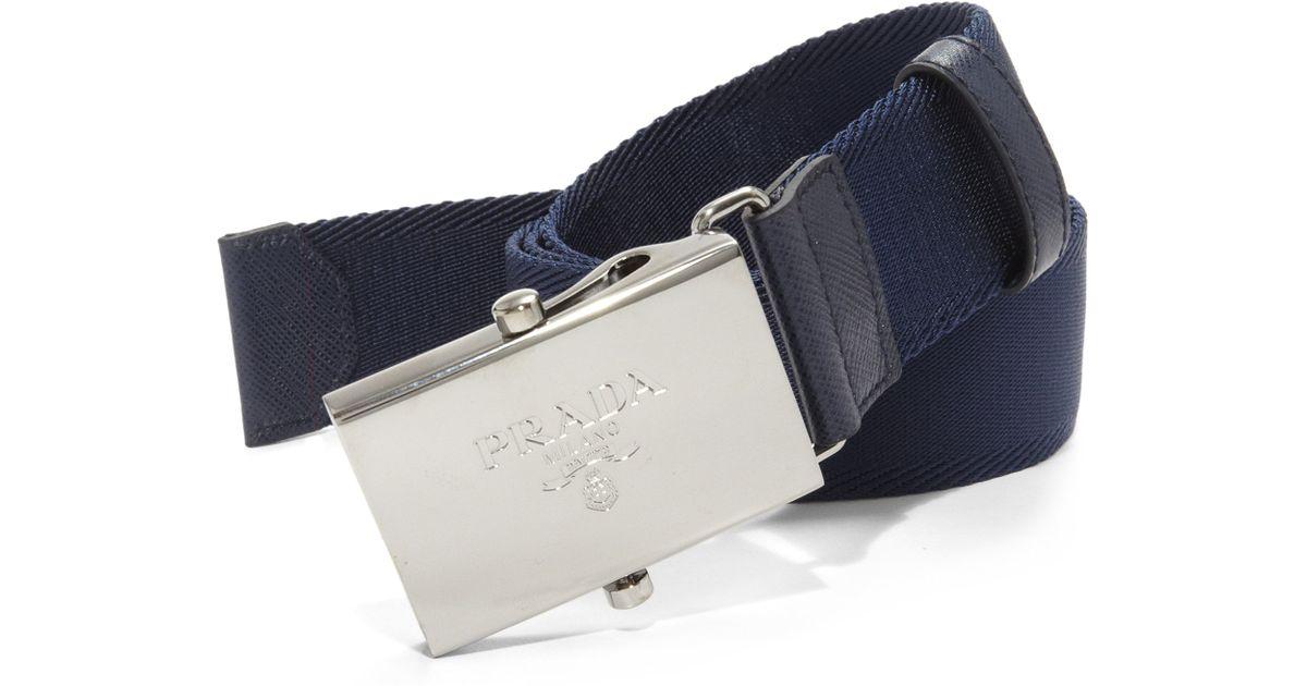 Prada Nylon Belt in Blue for Men (baltic-blue)   Lyst