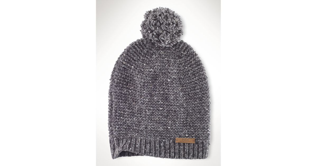 Lyst - Polo Ralph Lauren Slouchy Merino Wool Blend Hat in Gray for Men 9722981d6
