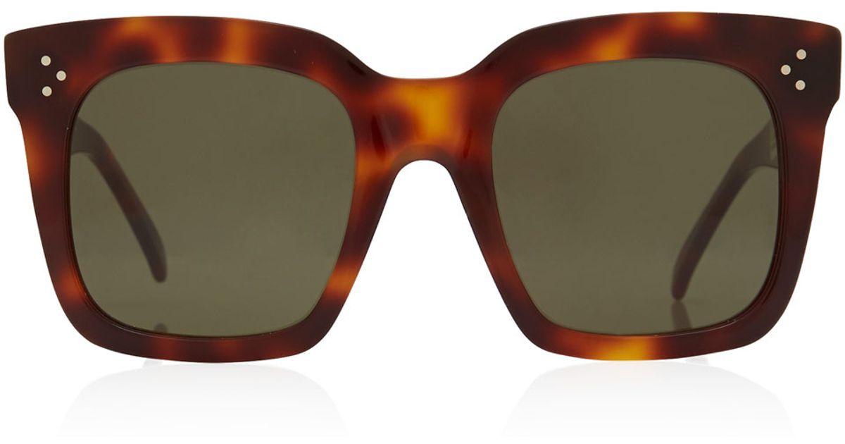 1d80d4ab2dc36 Céline Tortoiseshell Tilda Oversized Sunglasses in Brown - Lyst