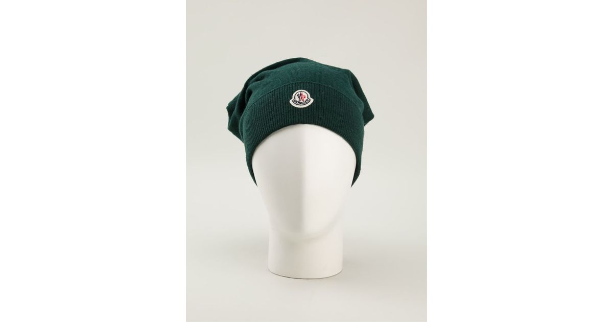 Lyst - Moncler Slouchy Beanie in Green fe6739799f1
