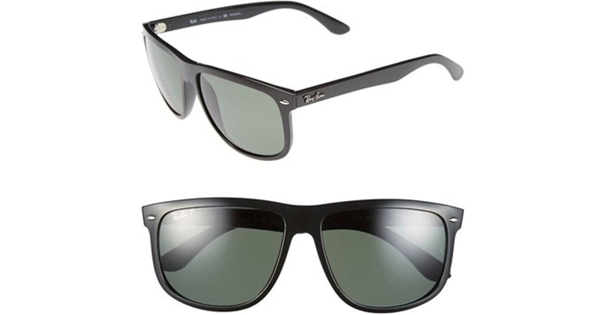 a17566f8c02 Lyst - Ray-Ban  boyfriend  60mm Polarized Sunglasses - Light Havana  Brown P  in Black for Men - Save 16%