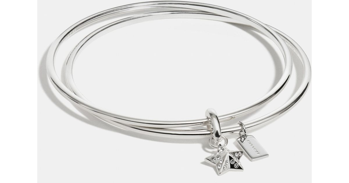 en flat enomis silver bangle bangles sterling star medal