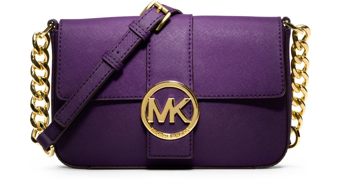 aa98f8858aa2d4 Michael Kors Fulton Small Messenger Bag in Purple - Lyst