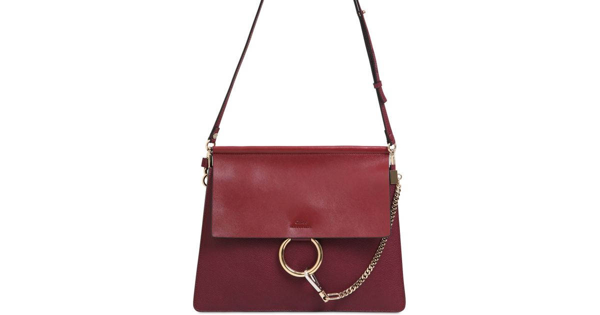 chloe red purse - Chlo�� Medium Faye Grained Leather Shoulder Bag in Purple (WINE ...