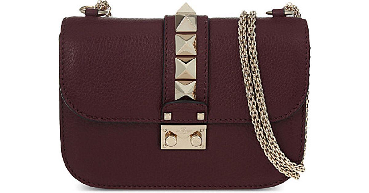 8997fe8b9bd Valentino Small Rockstud Shoulder Bag in Black - Lyst