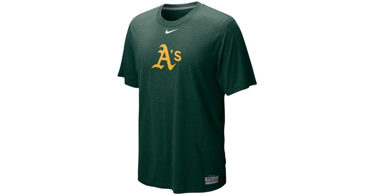 101fb29a1651 Lyst - Nike Mens Oakland Athletics Drifit Logo Legend Tshirt in Green for  Men