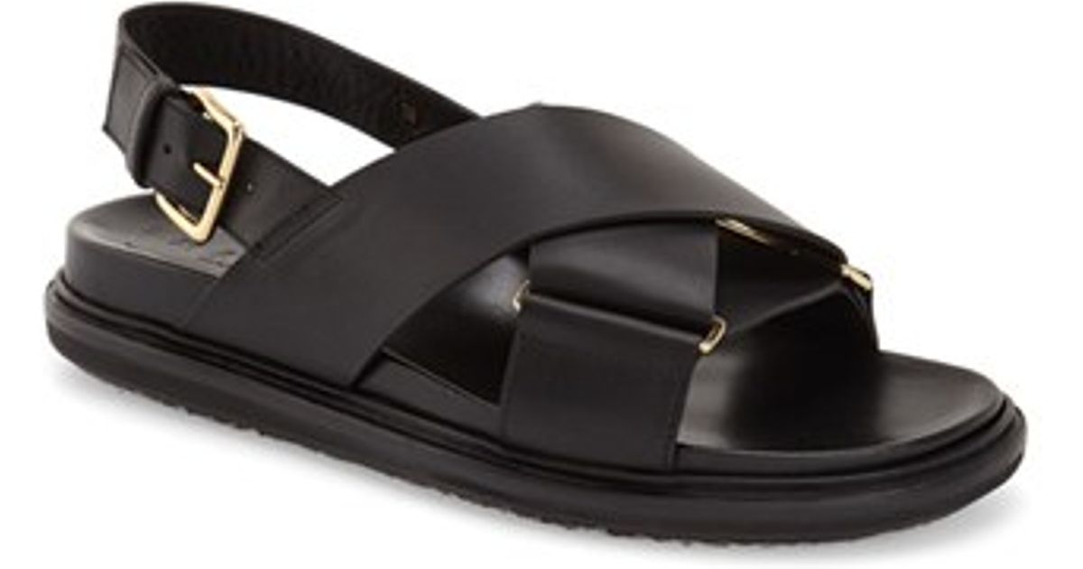 Fussbett sandals - Black Marni Buy Cheap Fast Delivery Shopping Online Sale Online Discount Low Shipping Fee Cheap Visa Payment Low Cost e9g2Bc