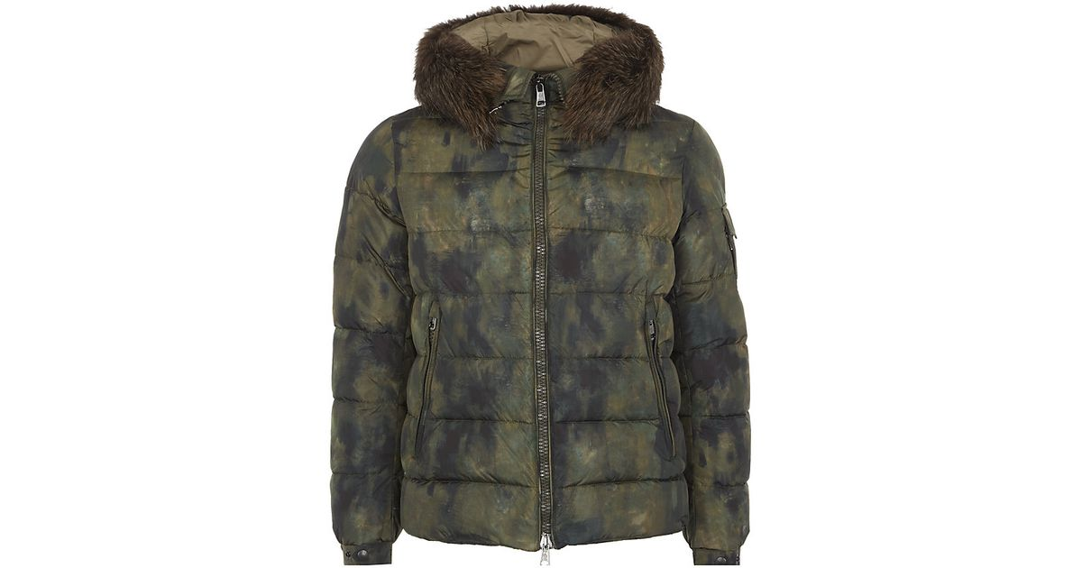 5db5d2e5f Moncler Byron Camouflage Fur Hooded Jacket in Green for Men - Lyst