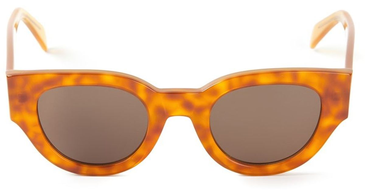 a62dbe1eabab Céline Butterfly Sunglasses in Yellow - Lyst