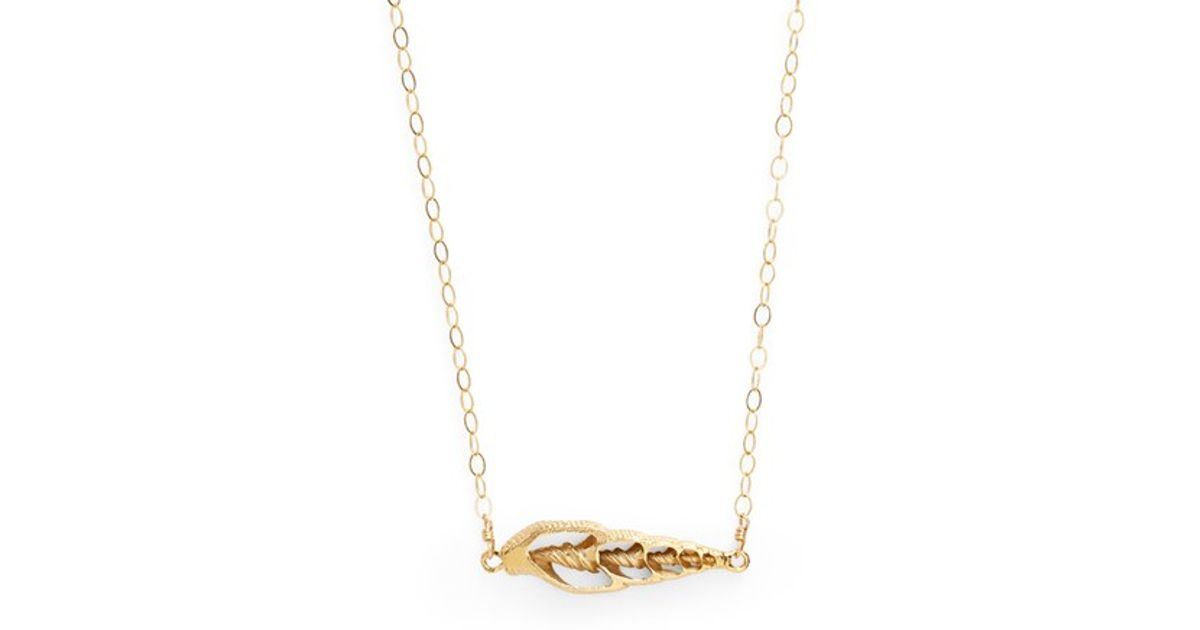 ki ele sunset shell pendant necklace in gold lyst