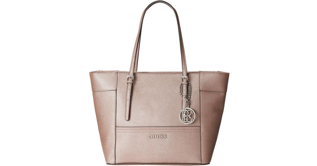 Lyst - Guess Delaney Small Classic Tote in Pink a2743af75c65a