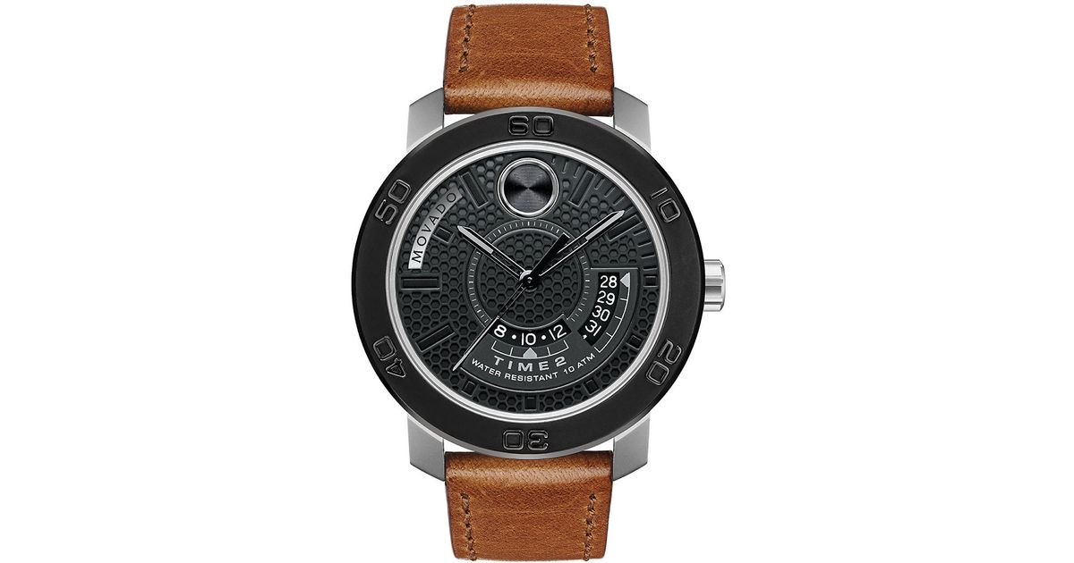 Movado bold Bold Ionic-plated Black Steel Watch in Brown ...