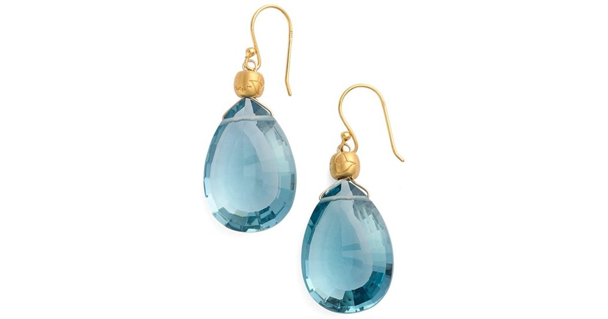 semi precious shopstyle browse chan luu stone xlarge earrings