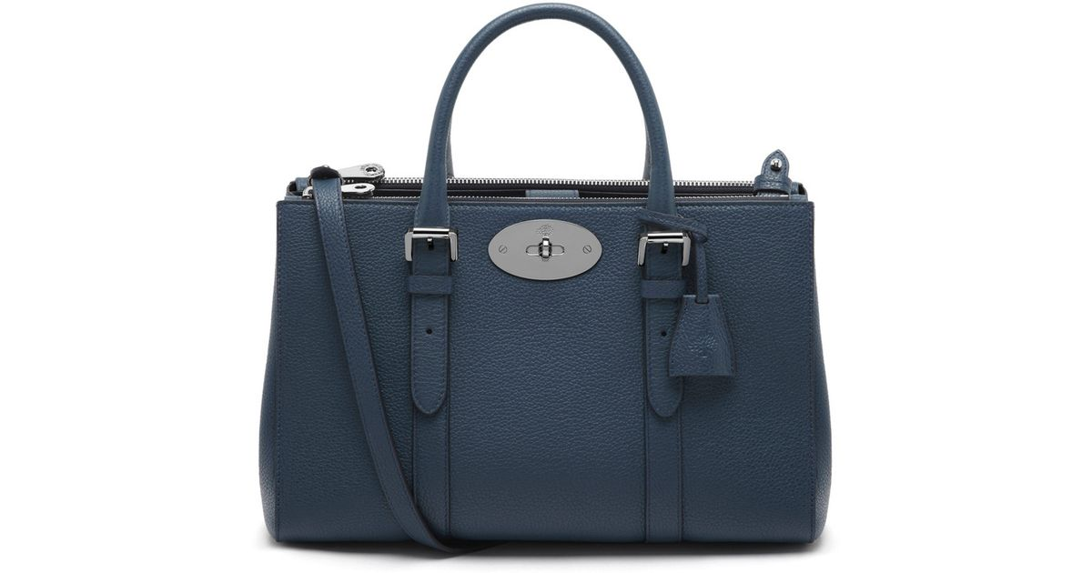 90cc3a3f26 ... shopping mulberry small bayswater double zip tote in blue lyst dfd96  750a5 ...