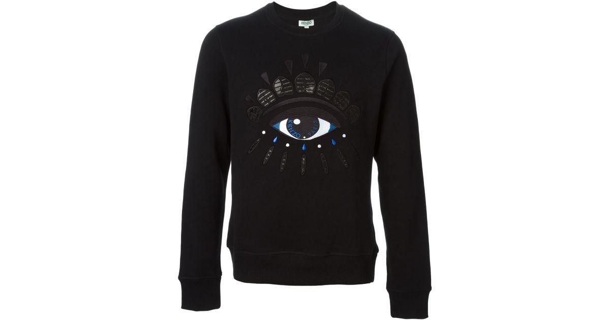92f9fb4f6c3e KENZO Big Eye Cotton Sweatshirt in Black for Men - Lyst