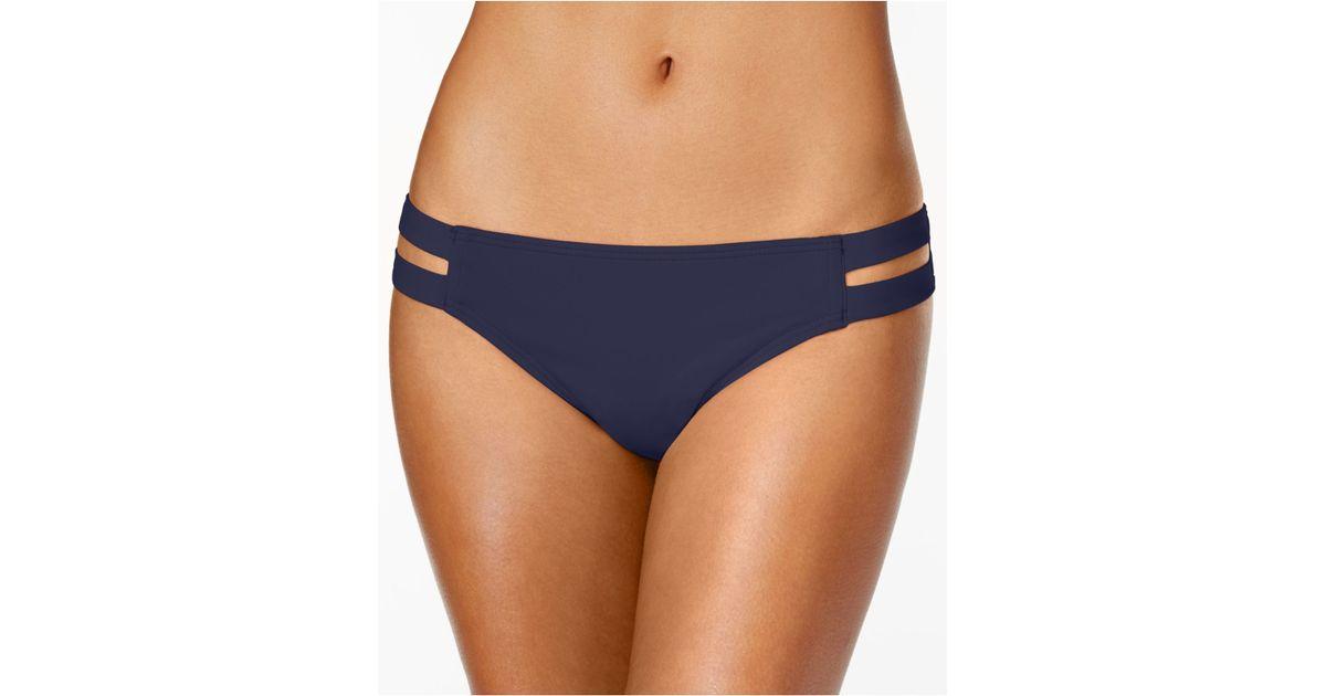 Vince camuto Double Side Strap Bikini Bottom in Blue | Lyst - photo #31
