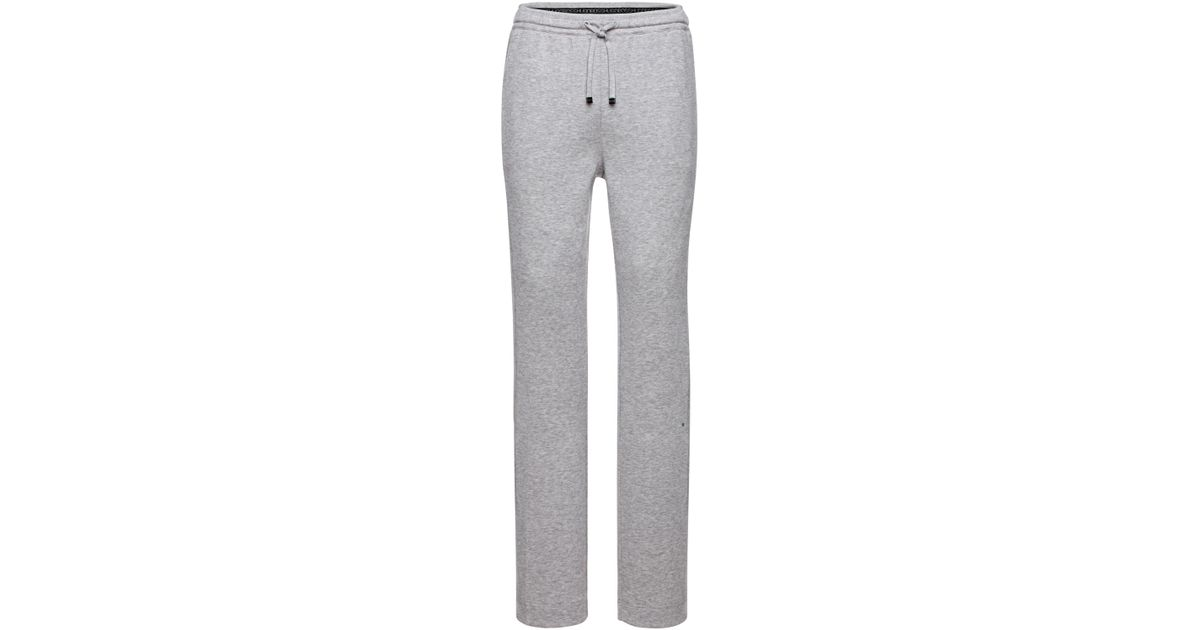 34b51afd3 BOSS Green Tracksuit Bottoms In Cotton Blend: 'hadim' in Gray for Men - Lyst
