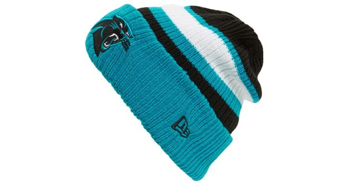 Lyst - KTZ  rib Start - Carolina Panthers  Knit Hat in Blue for Men 5c03865d508