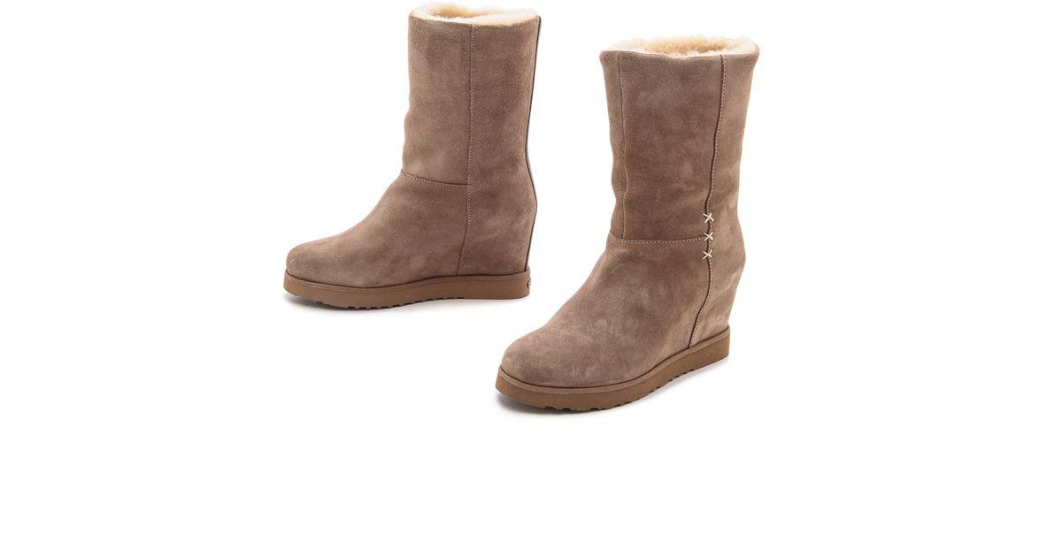 96a41af94d7d Lyst - Koolaburra La Cienega Wedge Boots - Seta in Brown