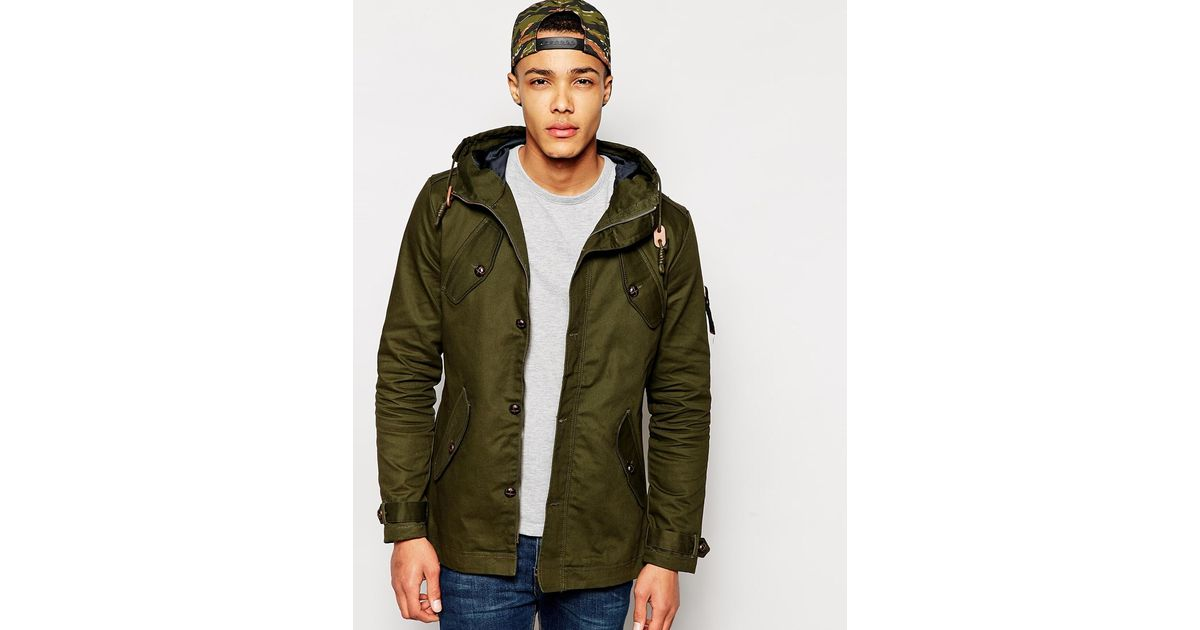 Fly 53 Parka Jacket With Hood in Green for Men | Lyst