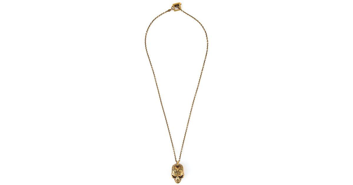 skull charm necklace - Metallic Alexander McQueen 0LqpN6heO9