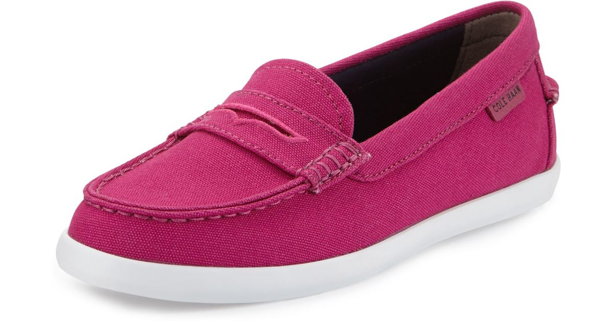 af006d5f0ed Lyst - Cole Haan Nantucket Canvas Loafer in Pink