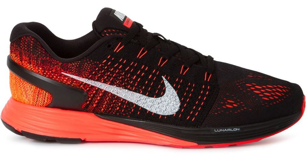 sports shoes b429b 4cbcf ... coupon for lyst nike lunarglide 7 running sneakers in red for men 33900  edf21