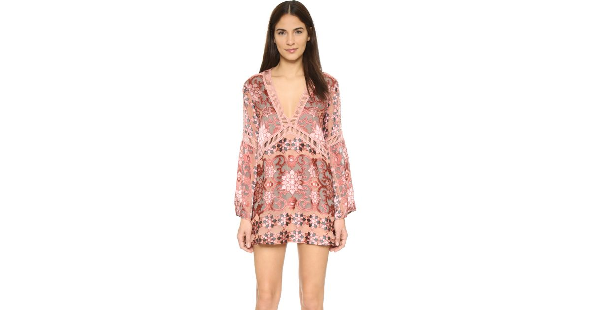 94ce7b8b209c6 For Love & Lemons Juliet A-line Dress in Red - Lyst