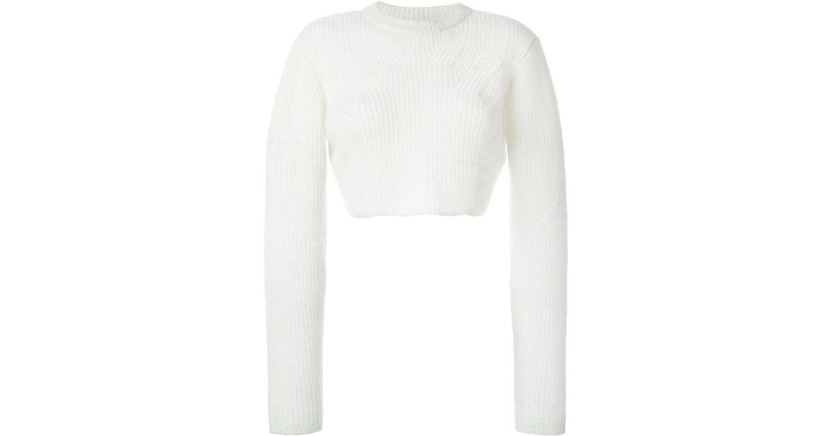 Public school Cropped Sweater in White | Lyst