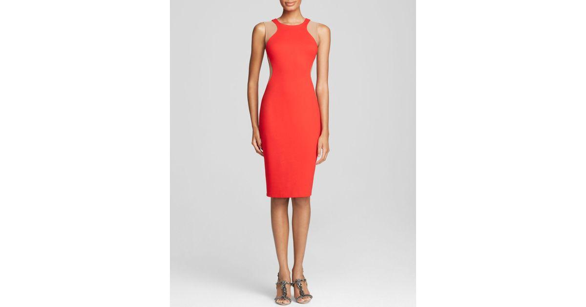Lyst Bailey 44 Sleeveless Body Con Illusion Sheath Dress