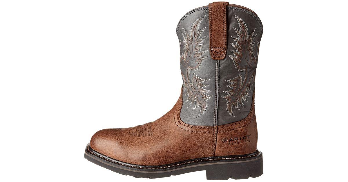 Best Wholesale Sale Online Ariat Sierra Wide Square Steel Toe Puncture Boot(Men's) -Earth/Black Crunch Full Grain Leather Buy Online TzIIjsEPQ