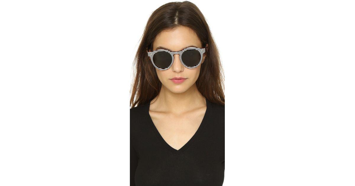 624f1e7727d0 Illesteva Leonard Ii Stripes Sunglasses - Stripes/black in Black - Lyst
