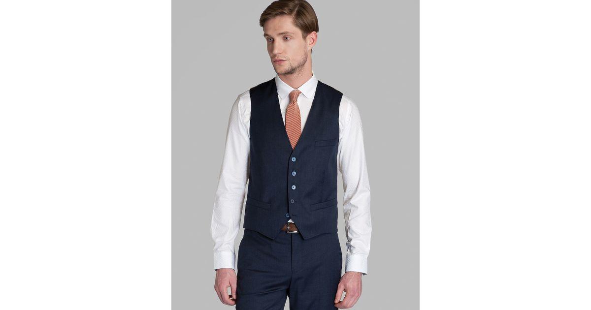 01c1d268f5ee Lyst - Ted Baker Waydec Wool Waistcoat in Blue for Men