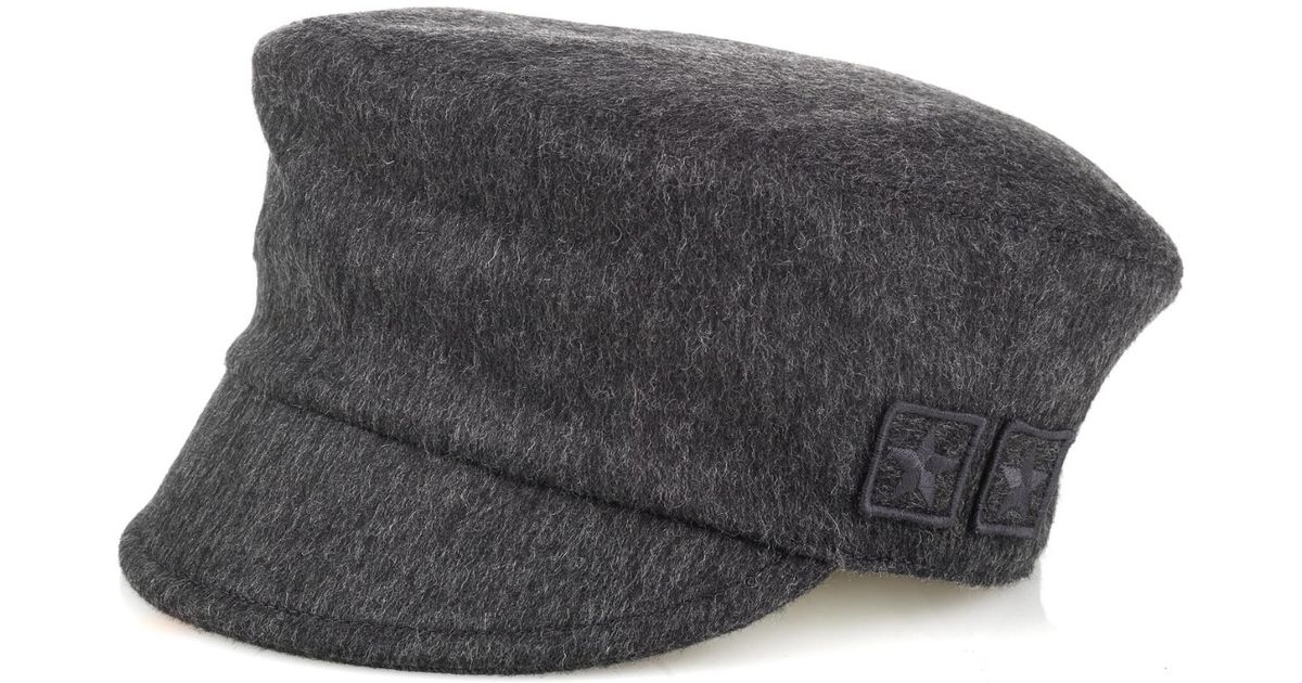 Lyst - Gucci Military Patches Wool Cap in Gray for Men 94b1272b0