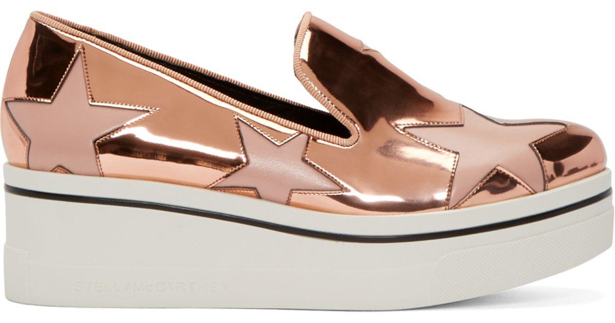 698dea9e27f Lyst - Stella McCartney Copper Star Platform Binx Sneakers in Metallic