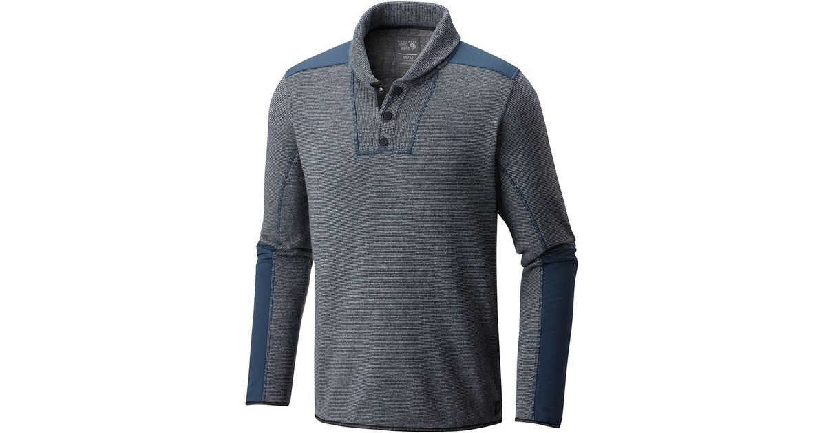 Mountain hardwear Mtn Tactical Fleece Pullover in Blue for Men | Lyst