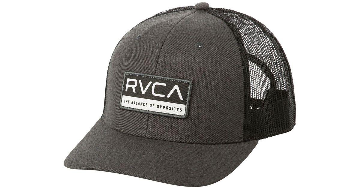 wholesale dealer b9c70 ff45a RVCA Reno Trucker Hat in Gray for Men - Lyst