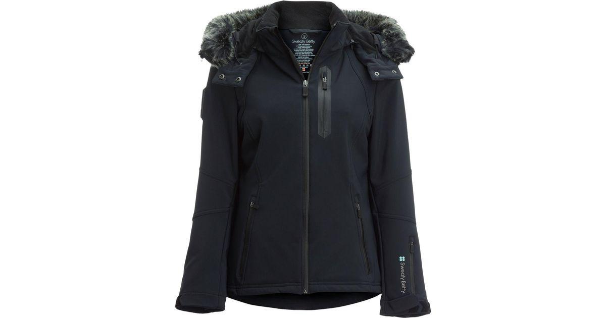 2112959578b Lyst - Sweaty Betty Exploration Ski Softshell Jacket in Black