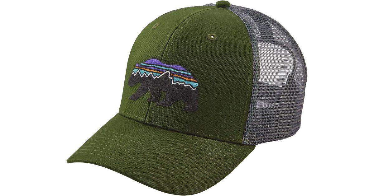 1d317dba5b0 Lyst - Patagonia Fitz Roy Bear Trucker Hat in Green for Men