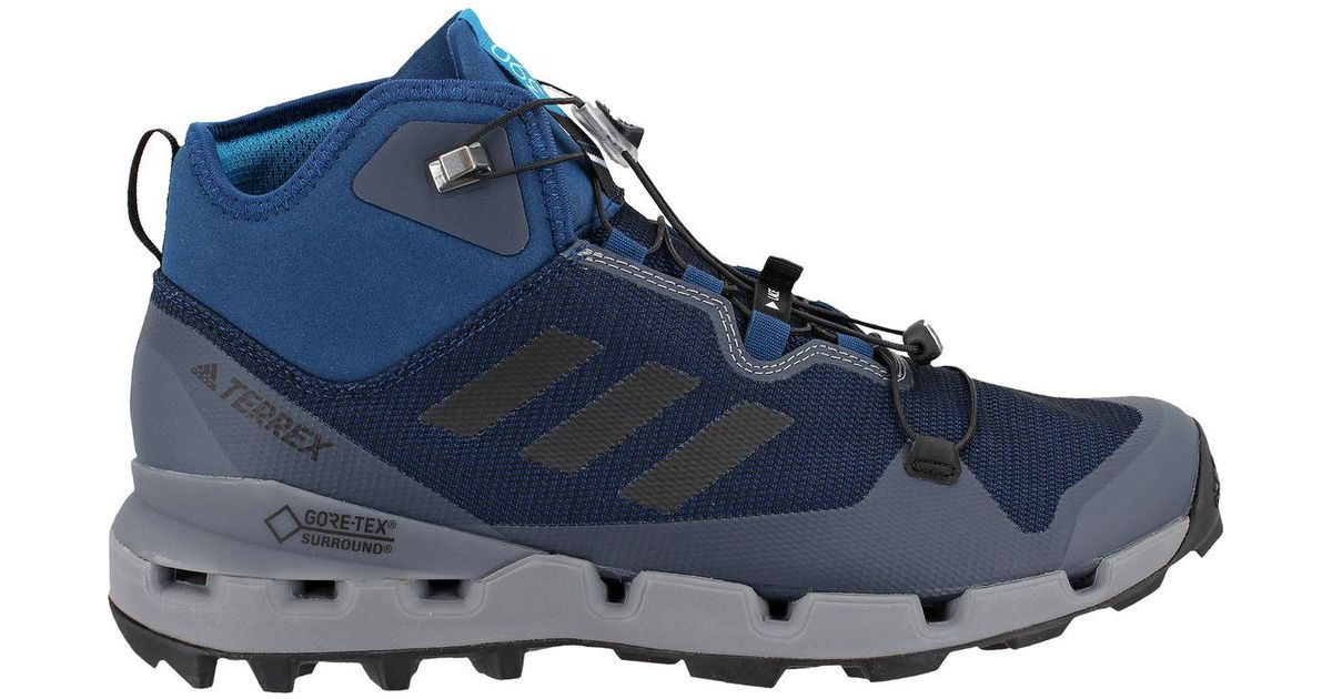 Lyst - adidas Originals Terrex Fast Gtx-surround Mid Hiking Boot in Blue  for Men ccdcbeff2