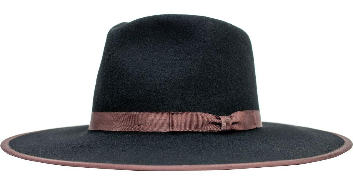 d714da6929b92e Lyst - Brixton Homestead Fedora in Black for Men