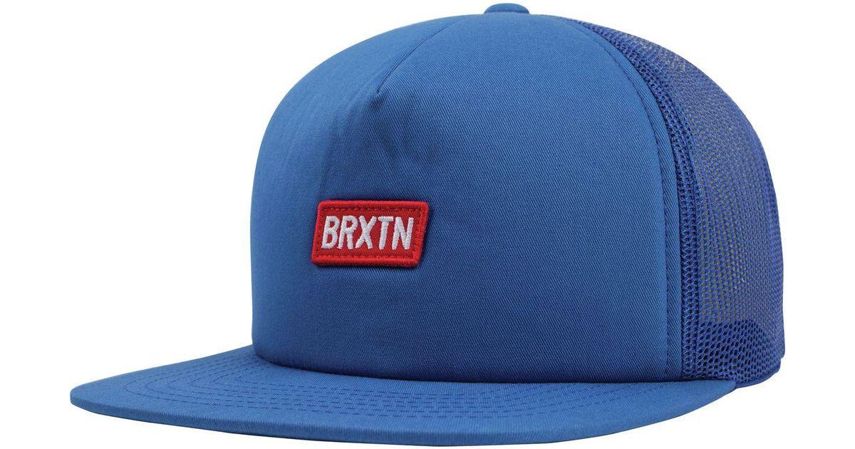 2acece85c90 Lyst - Brixton Socket Mesh Trucker Hat in Blue for Men