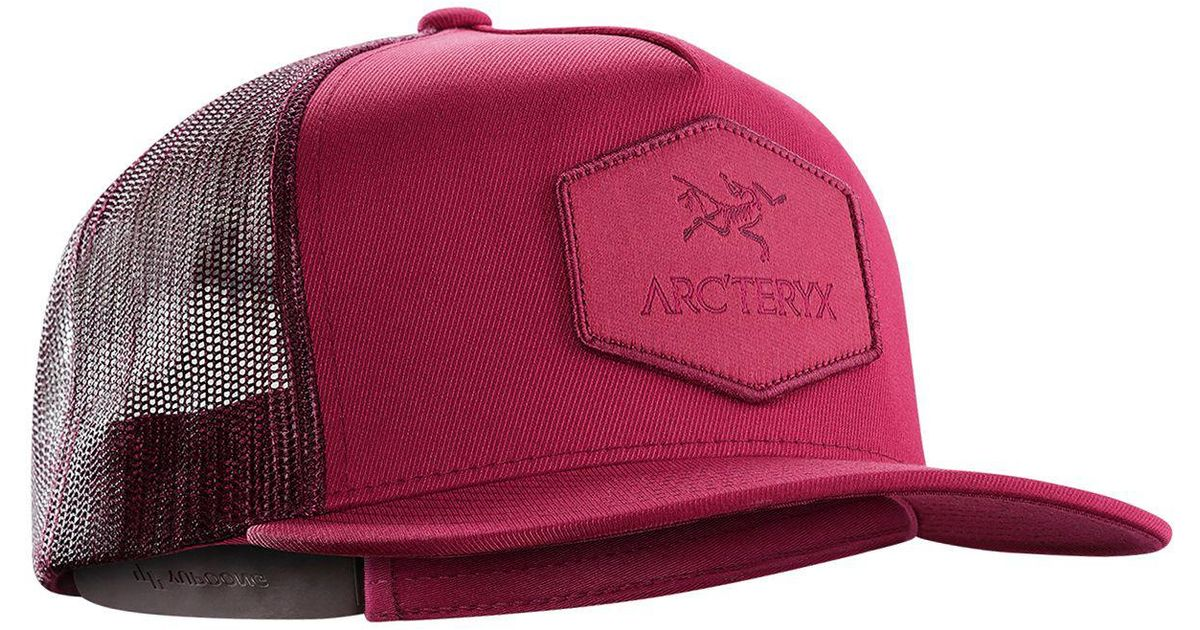 Lyst - Arc teryx Hexagonal Patch Trucker Hat in Red for Men 5eb074cc64de