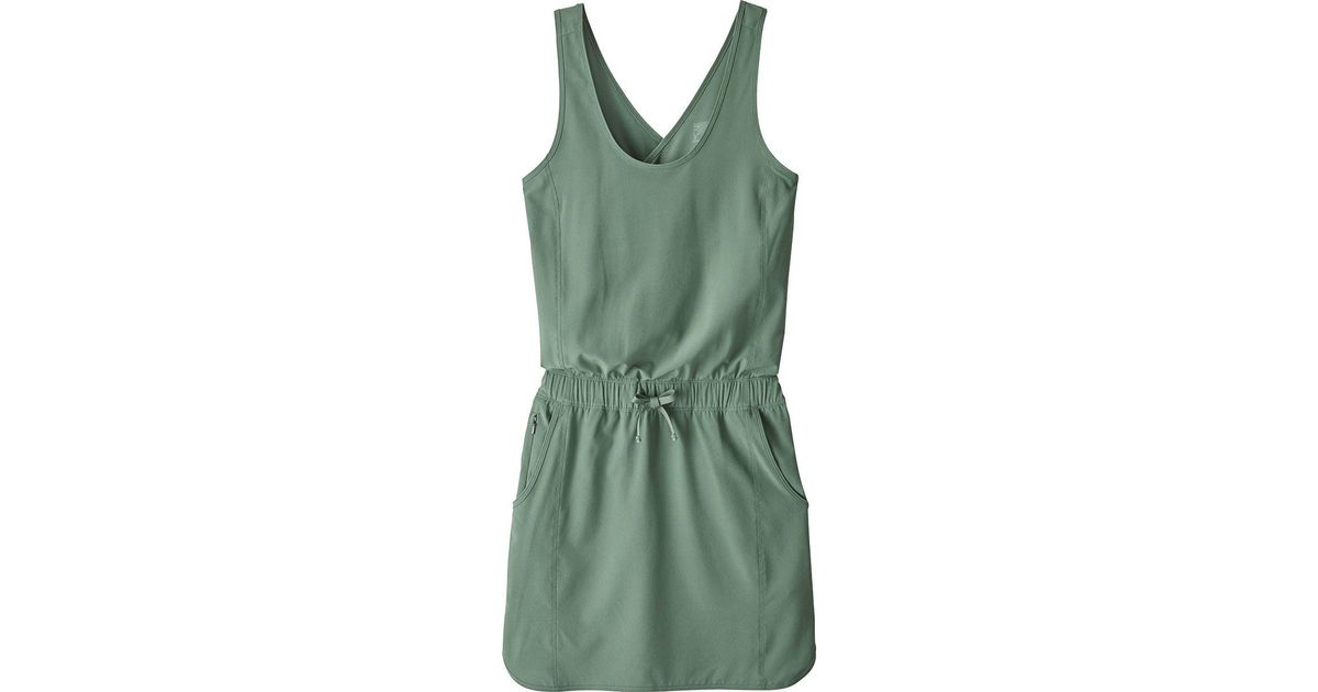 5b1889674512 Lyst - Patagonia Fleetwith Dress in Green - Save 27%