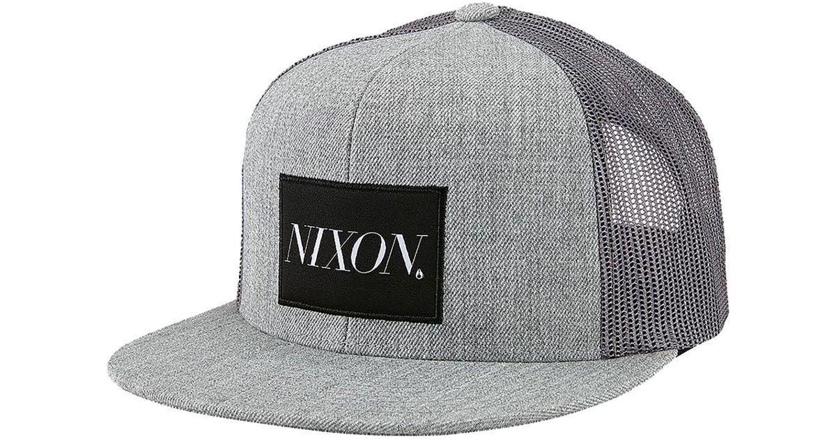 12e600f6f48a1 Lyst - Nixon King Trucker Hat in Gray for Men