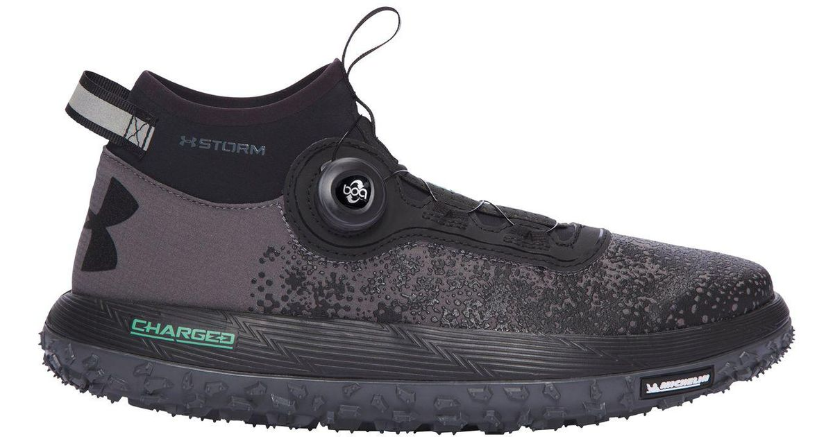 low priced 5ffec ad4f8 Under Armour - Black Fat Tire 2 Trail Running Shoe for Men - Lyst