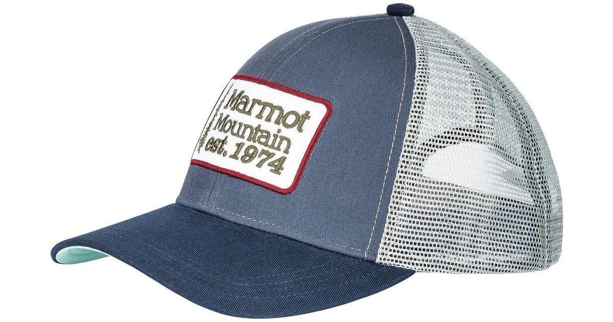 a84829ca95ec5 Lyst - Marmot Retro Trucker Hat in Blue for Men