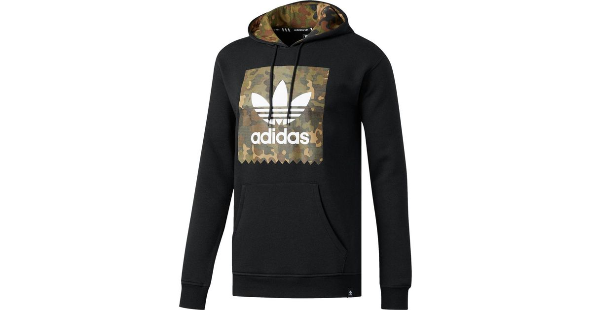 feeef17433ab Lyst - adidas Originals Camo Blackbird Pullover Hoodie in Black for Men
