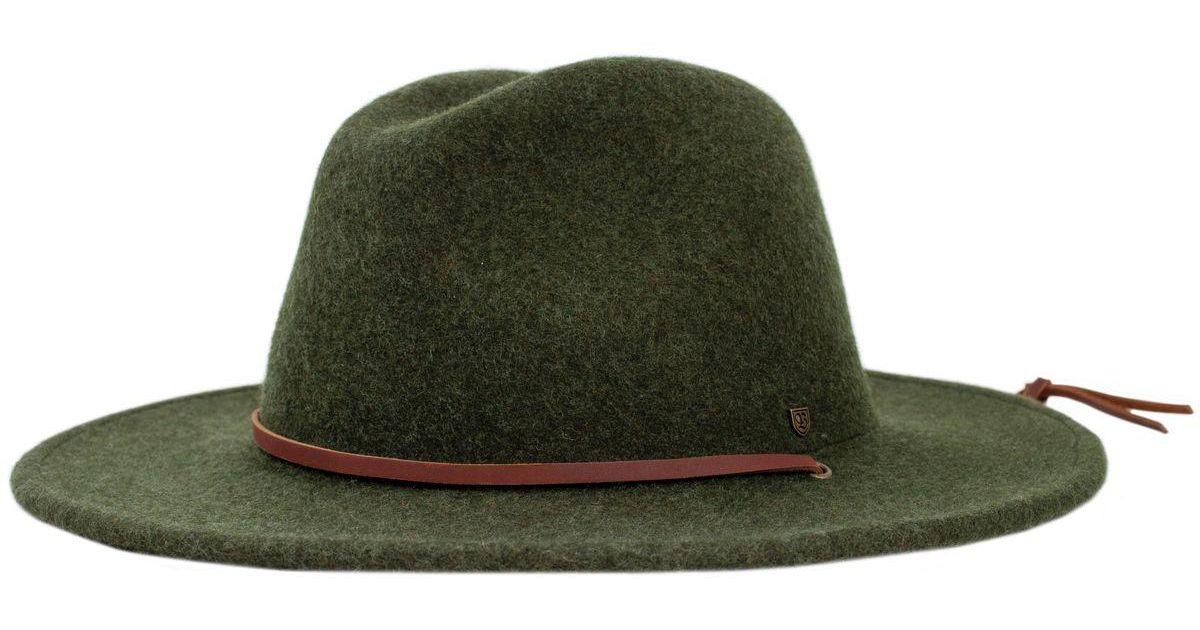 e14ffd16005d3 Brixton Field Hat in Green - Lyst